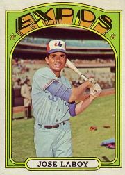 1972 Topps Baseball Cards      727     Jose Laboy